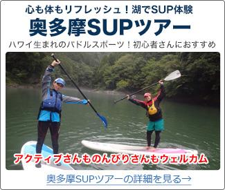 心も体もリフレッシュ!湖でSUP体験 東京・奥多摩SUP